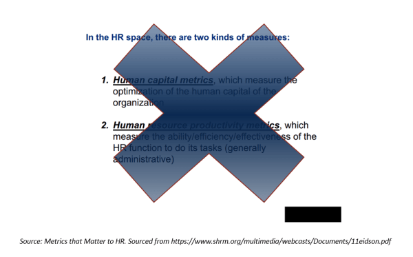 human capital metrics - the standard model