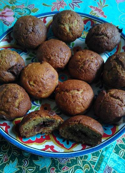 recette facile muffins pâte à tartiner idéales pour recyler bananes trop mûres !