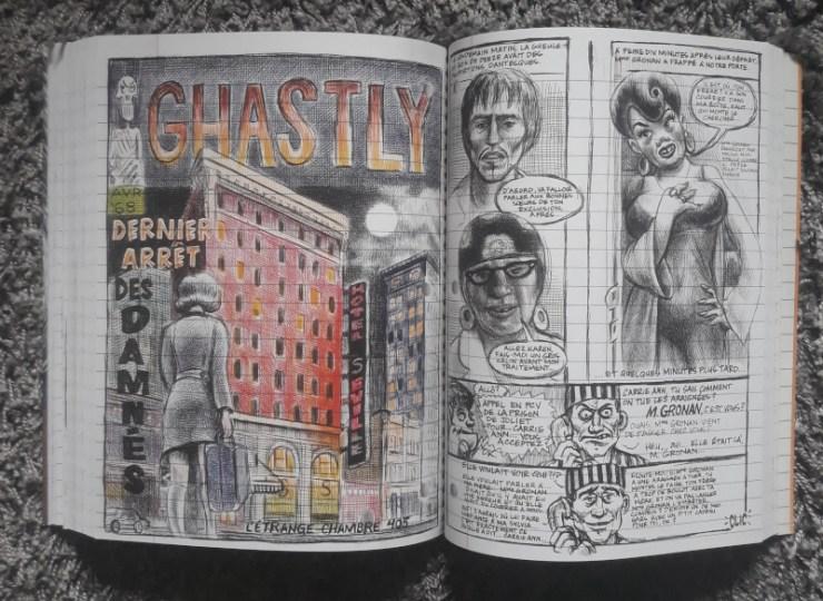 Extrait de Moi ce que j'aime c'est les monstres, BD d'emil Ferris aux éditions Monsieur Toussaint Louverture, Fauve d'Or à Angoulême.