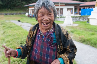 Tashi Yangtse village woman.