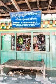Eastern Bhutan convenience store.