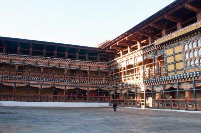 Bhutan - Paro. Rinpung Dzong courtyard