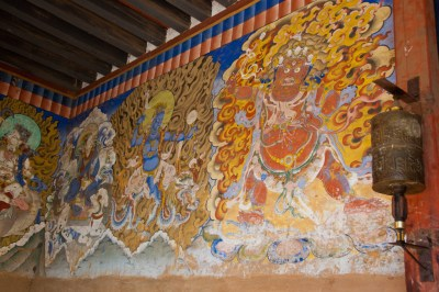 Mural at Gangtey Gompa