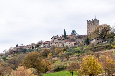 Tuscany - Casentino. Porciano keep.