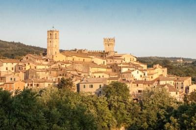 Val d'Orcia hilltop village.