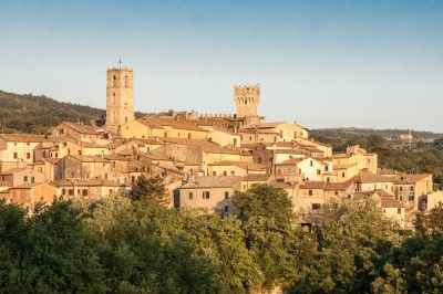 Tuscany - Val d'Orcia hilltop village.
