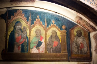 Poppi castle chapel frescoes