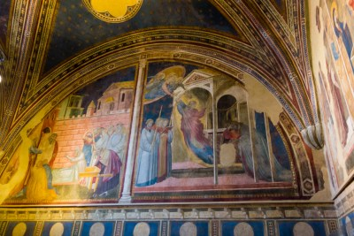 Poppi castle frescoed chapel.