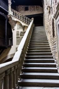 Poppi castle staircase.