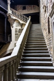 Tuscany - Casentino. Poppi castle staircase.