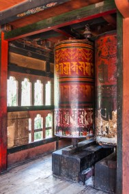 Prayer drums at the Changankha Monastery.