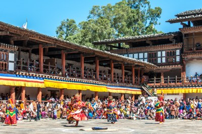 Cham dances at Wangdi Festival.