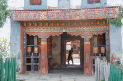 Bhutan - Village temple in Tang Valley.