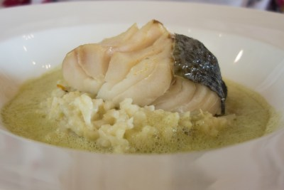 Steamed Cod Risotto