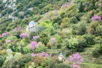 Greece - Pindus. Agrafa Chapels.