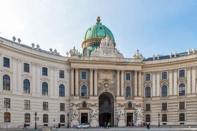 Austria - Vienna Hofburg Palace St. Micheal's Gate.