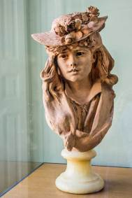 Auguste Rodin, Young Woman with a Flowered Hat, Terra-Cotta.