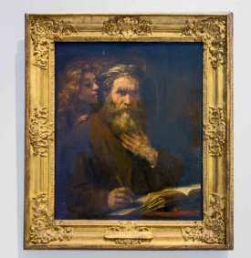 Rembrandt, 1669, Saint Matthew and the Angel, Musee du Louvre, Paris, France.