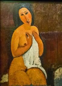 Modigliani, 1917, Seated Nude with a Shirt, Métropole Musée d'Art Moderne, d'Art Contemporain et d'Art Brut, Lille, France.