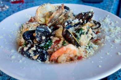 MA-Rudder seafood risotto.