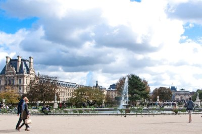 The North Wing of the Musée du Louvre, seen from the Tuileries Garden.