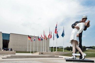 France-Normandy Caean Memorial Facade.