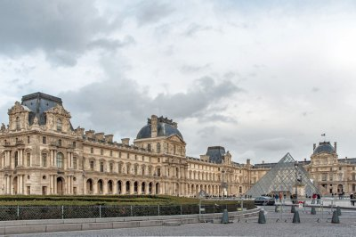 The North Wing of the New Louvre and the Napoléon Courtyard.