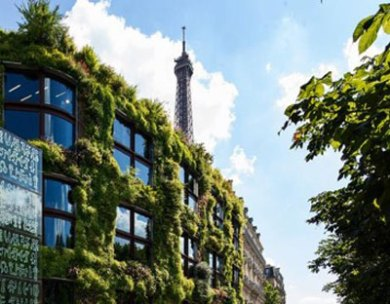 France-Paris Branly Vegetal Facade
