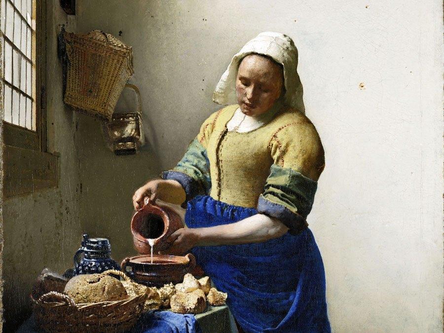 Paris-Louvre, Vermeer Milkmaid.