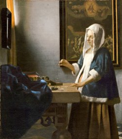 Johannes Vermeer, Woman Holding a Balance. Oil on Canvas.42.5 x 38 cm. (16 3/4 x 15 in.) Washington, D.C. National Gallery of Art.