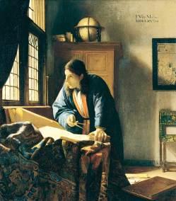The Astronomer, Oil on Canvas. 50 x 45 cm. (19 5/8 x 17 3/4 in.) Paris,  Musée du Louvre.