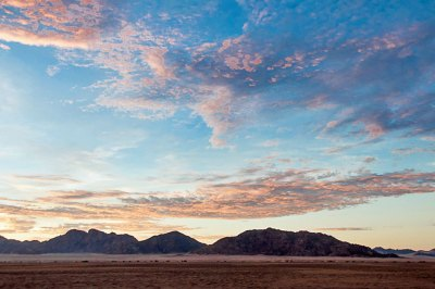 Dawn on the Naukluft Mountains.