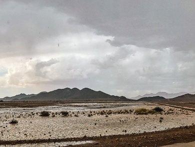 Namibia-Kulala rain.