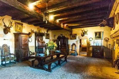 Maison Forte de Reignac - dining hall.