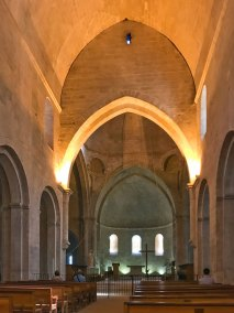 Our Lady of Sénanque is reputed for its pure Romanesque lines arching toward a gently pointed barrel vault.