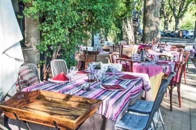 Luberon - Lourmarin terrace.