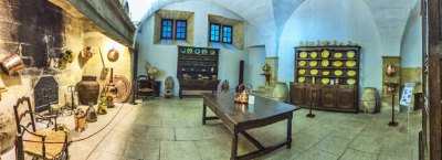 The kitchen of the Lourmarin castle.