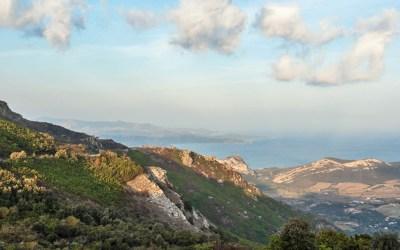 Cap Corse mountains vista.