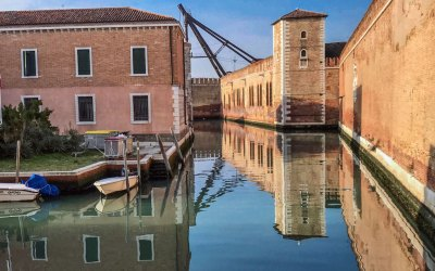Venice-Arsenale fortifications.