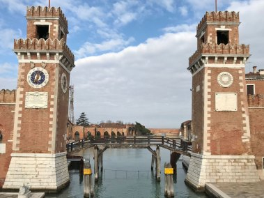 Venice-Arsenale towers.