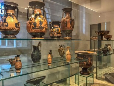 Ancient Greek and Apulian terracotta pottery at the Padua Archeological Museum (2).