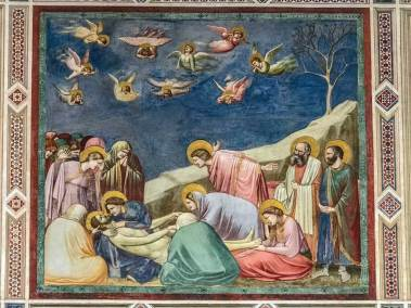 The entombment of Christ.