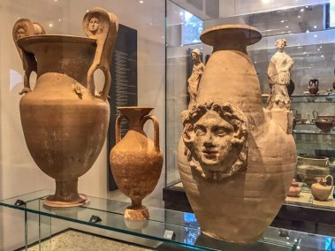 Ancient Greek and Apulian terracotta pottery at the Padua Archeological Museum (1).