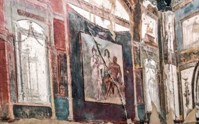 College of the Augustales - Fresco detail.
