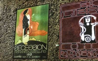 Historical posters about the Vienna Secession,of which Klimt was one of the founders.