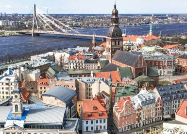 Riga-Daugava River.