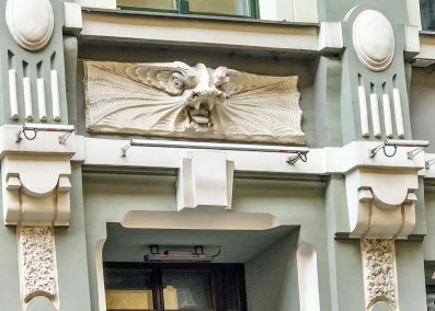 Art Nouveau architectural detail in the Old Town.