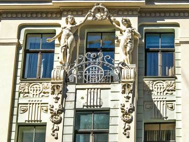 Art Nouveau on Smilsu Steet in the Old Town.