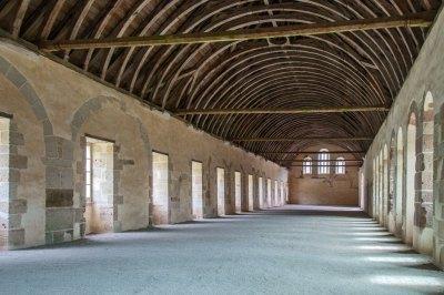 Abbey of Fontenay -  the dormitory.