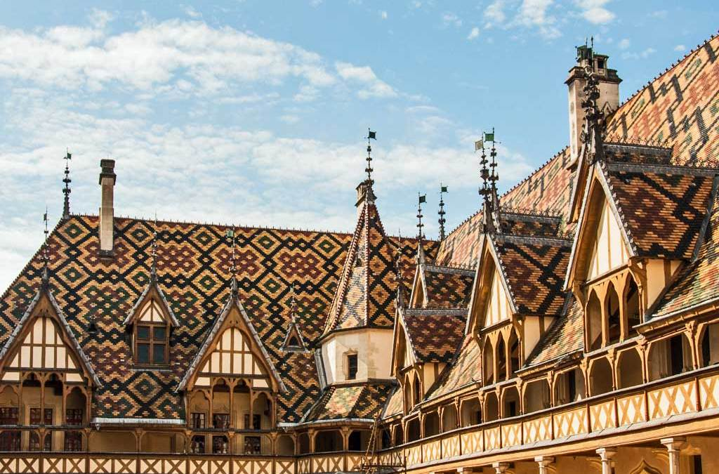 Burgundy-Banner Hospices de Beaune.